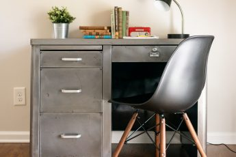 bare metal mid century steel taker desk for boys room