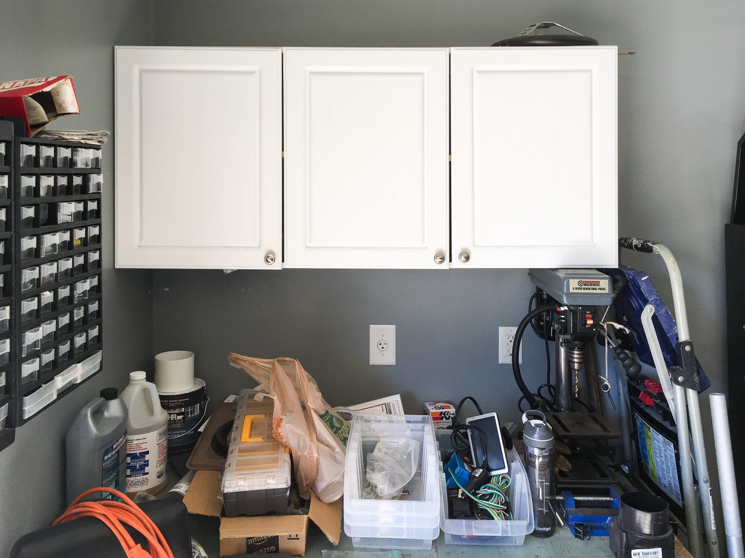 my old garage cabinets