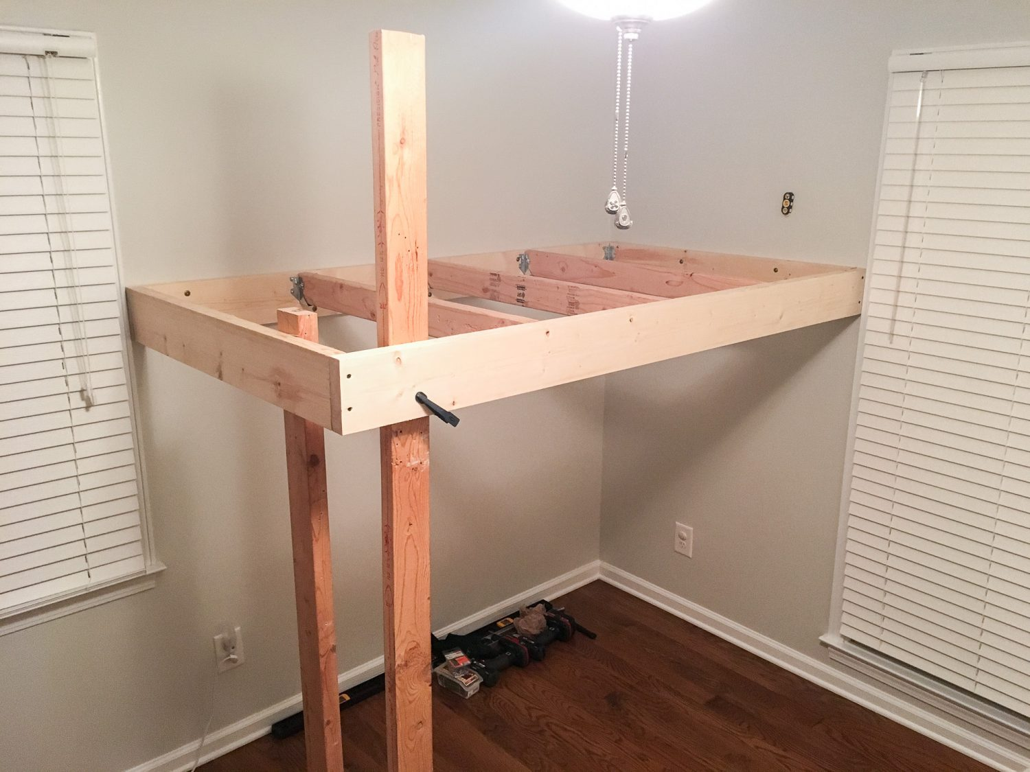 Loft bed for boy's room. The frame.