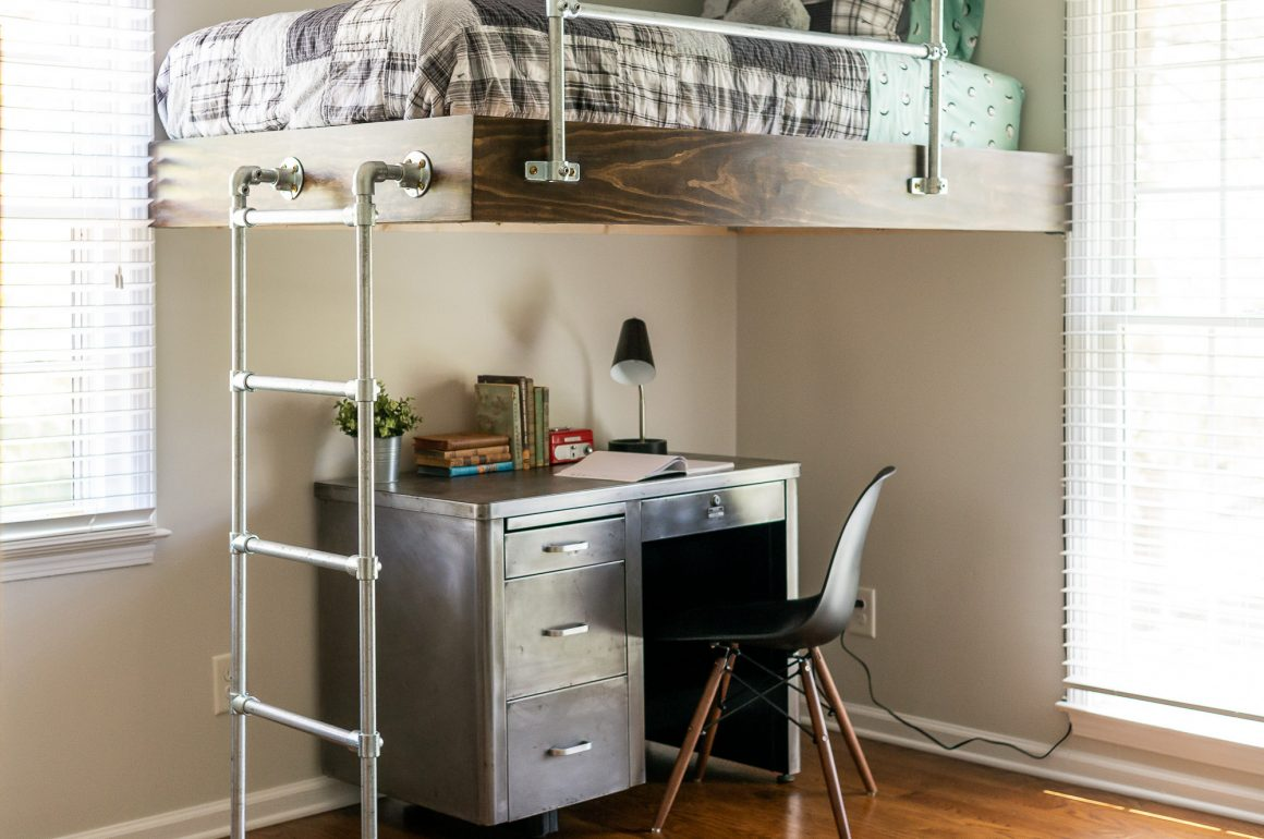 1d303b013945 DIY Loft Bed for Boy's Room | Strong and Simple-to-Build | You can, man.
