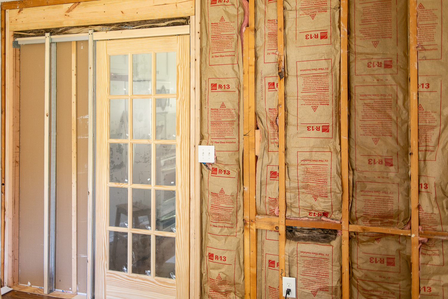 pocket door in a load-bearing wall