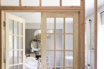 Building a wall and installing double French doors