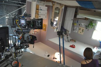 Y'allywood, on the set of a commercial
