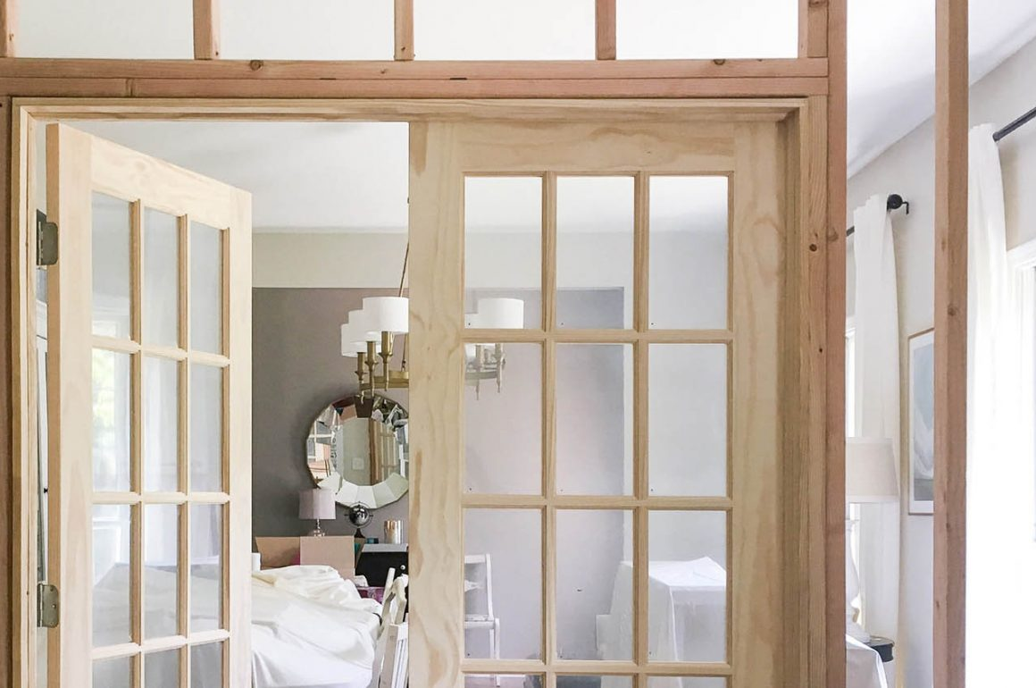 Image of interior French Door installation