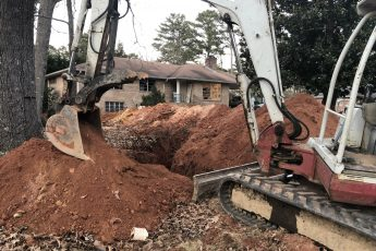 main sewer line replacement